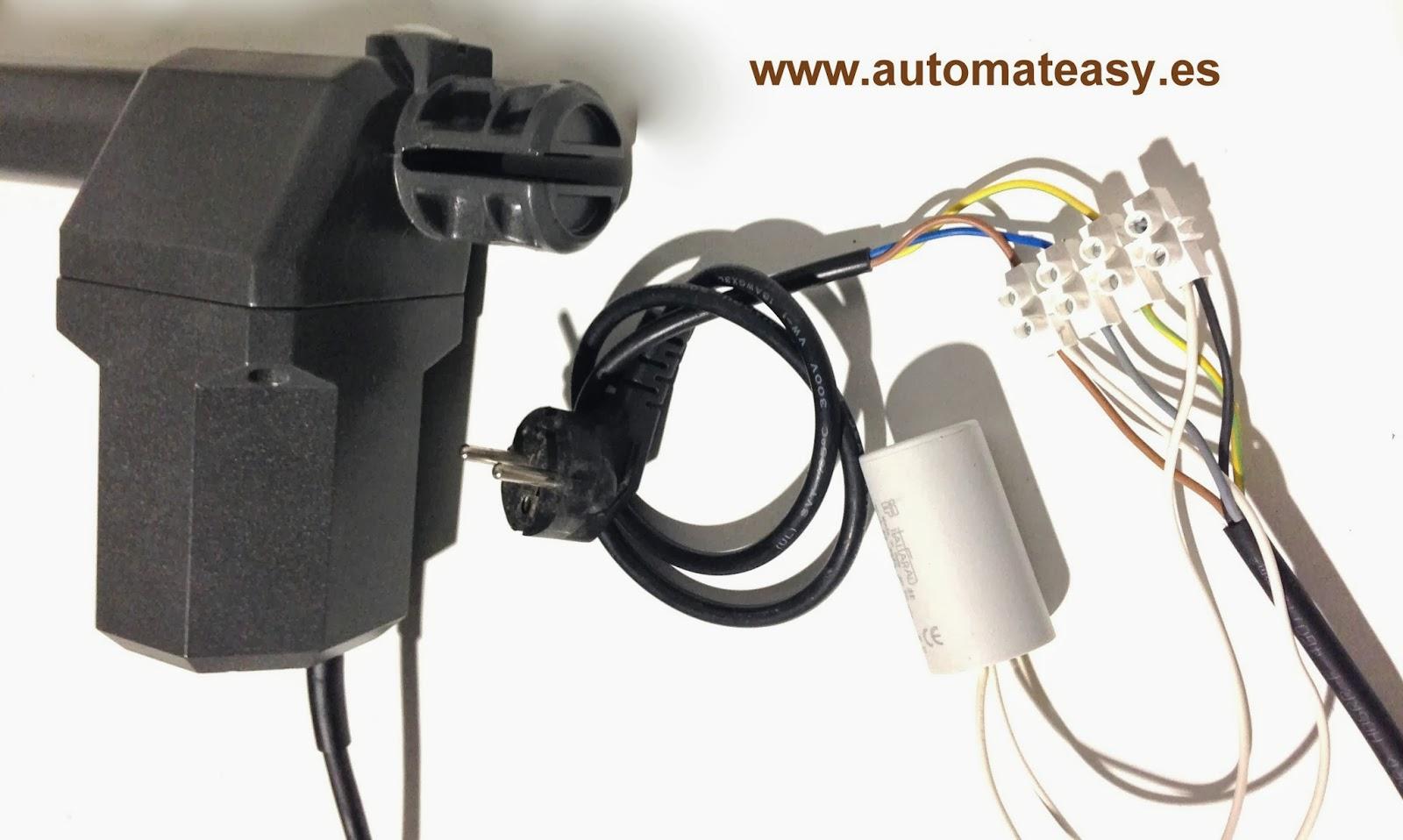 Como motorizar puertas batiente de 2 hojas automateasy - Como instalar un motor de puerta de garaje ...